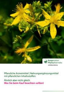 Pflanzliche Arzneimittel | Nahrungsergänzungsmittel mit pflanzlichen Inhaltsstoffen: ähnlich aber nicht gleich. Was Sie beim Kauf beachten sollten!